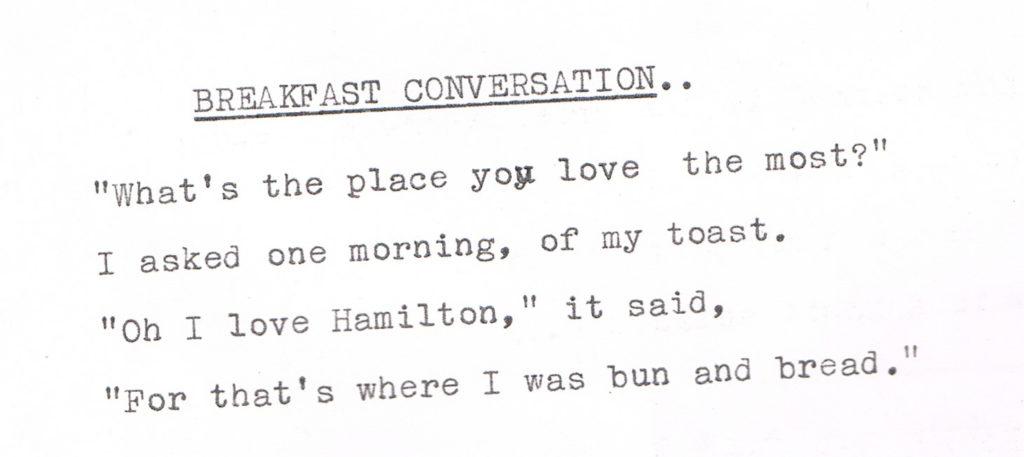 Breakfast Conversation POEM